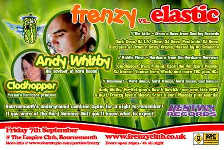 Frenzy present Andy Whitby and three floors of underground dance music