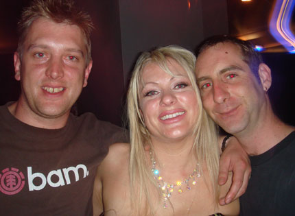 Nick from SPX with Rachael Shock and Frenzy resident Cheeky Scott on another Frenzy night