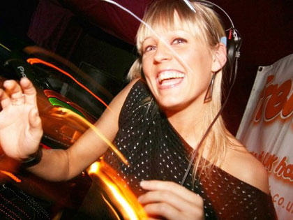 Cally Gage DJ'ing for Frenzy @ Bournemouth's Old Firestation