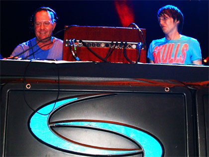 Gaz White & Tim Lyall DJ'ing for Slinky at the Opera House