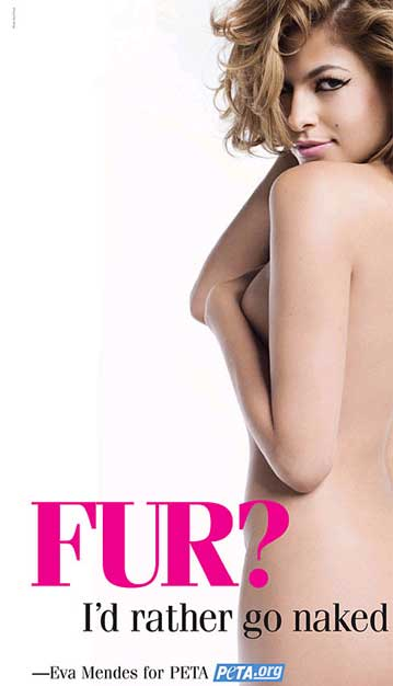 PETA - I'd rather go naked than wear fur