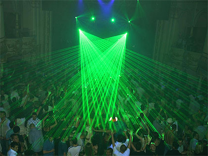 The main room laser show